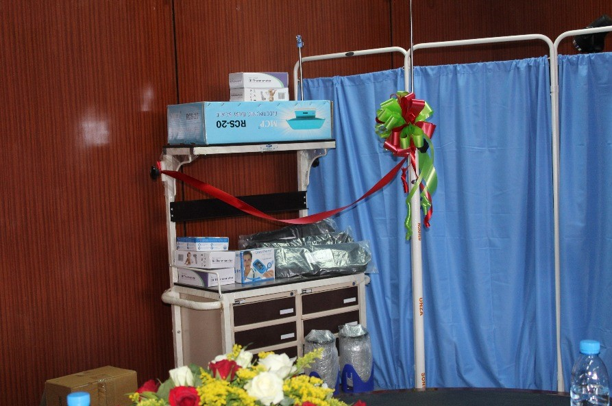 Some items which were donated to the Ministry of Health
