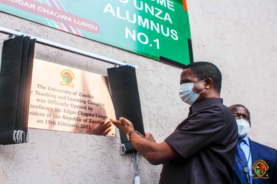 President Lungu officially opening the lecture theatres